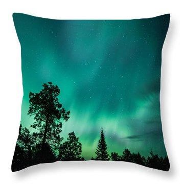 Northern Lights Tonight Throw Pillow