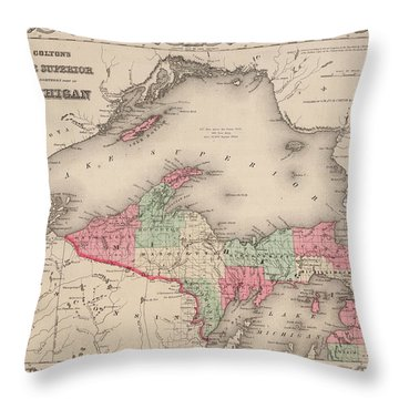 Northern Michigan And Lake Superior Throw Pillow