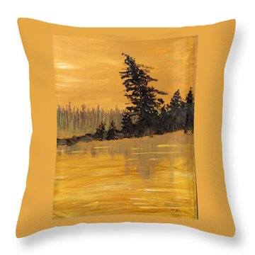 Throw Pillow featuring the painting Northern Ontario Three by Ian  MacDonald