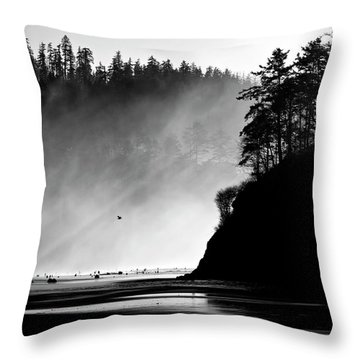 Northern Oregon Coast Throw Pillow