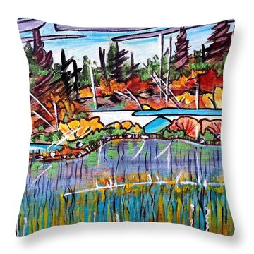 Northern Reflections Throw Pillow