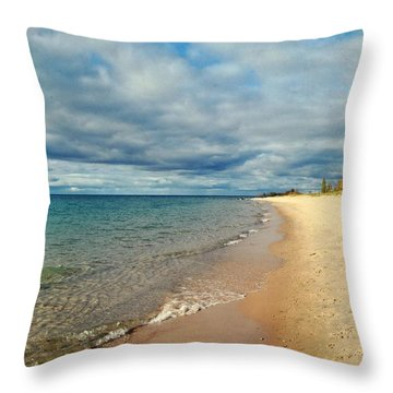 Throw Pillow featuring the photograph Northern Shore by Michelle Calkins