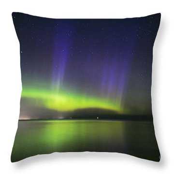 Northern Spirits Dance Throw Pillow by Charline Xia