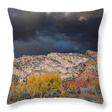 Northern Uintas Autumn Throw Pillow