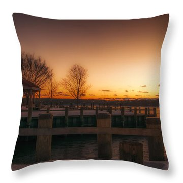Northport Sunset Throw Pillow