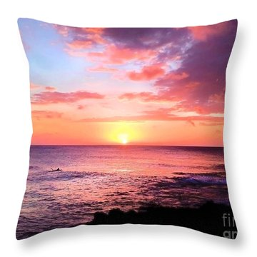 Northshore Sunset Throw Pillow
