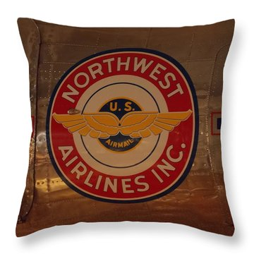 Northwest Airlines 1 Throw Pillow