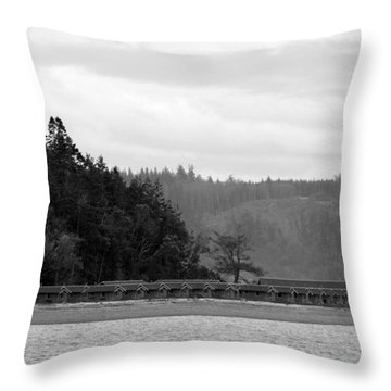 Throw Pillow featuring the photograph Northwest Beach Cabins by Erin Kohlenberg