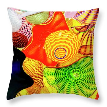 Northwest Glass 1 Throw Pillow by Greg Sigrist