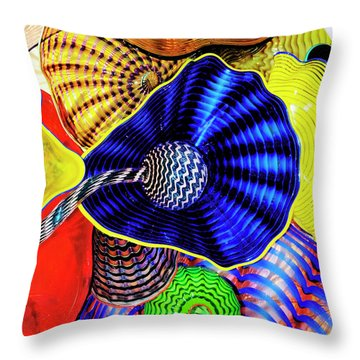 Northwest Glass 2 Throw Pillow by Greg Sigrist