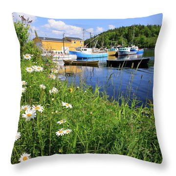 Northwest Harbour, Nova Scotia Throw Pillow