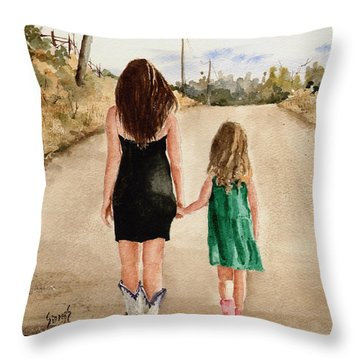 Northwest Oklahoma Sisters Throw Pillow