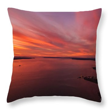 Northwest Searing Sunset Palette Throw Pillow