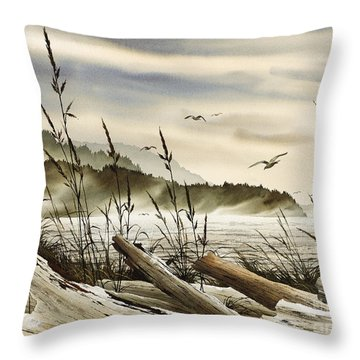 Northwest Shore Throw Pillow by James Williamson