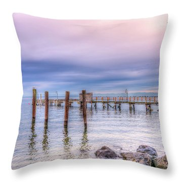 Northwest Sky Throw Pillow by Spencer McDonald