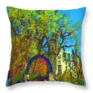 Northwestern Arch  Throw Pillow