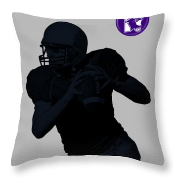 Northwestern Football Throw Pillow