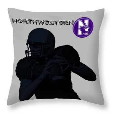 Northwestern Football Throw Pillow