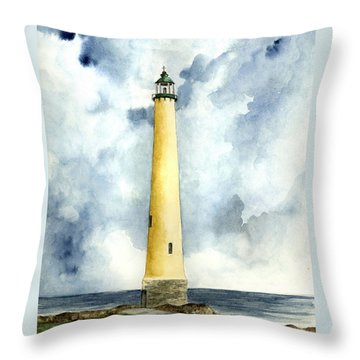 Northwood Lighthouse Throw Pillow by Michael Vigliotti