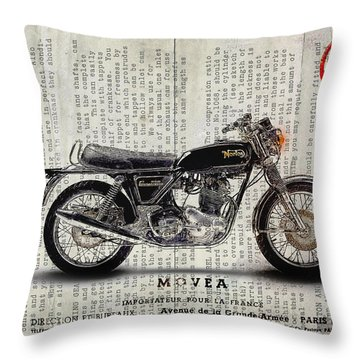 Norton Commando 1974 Throw Pillow