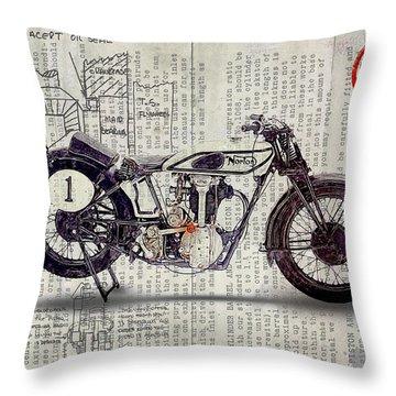 Norton Cs 1 1928 Throw Pillow