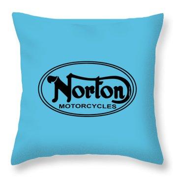 Norton Motorcycles Throw Pillow