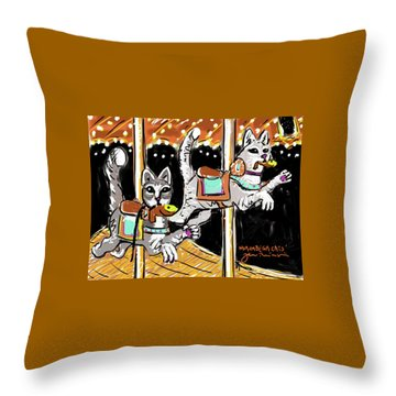 Norumbega Cats Throw Pillow