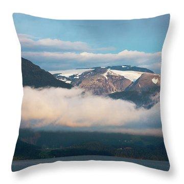 Norway Fjord Innvikfjorden Throw Pillow