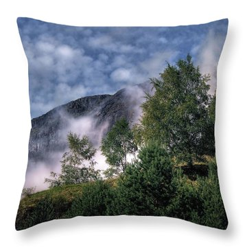 Norway Mountainside Throw Pillow
