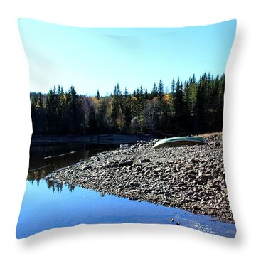 Norwegian Autumn Landscape  Throw Pillow
