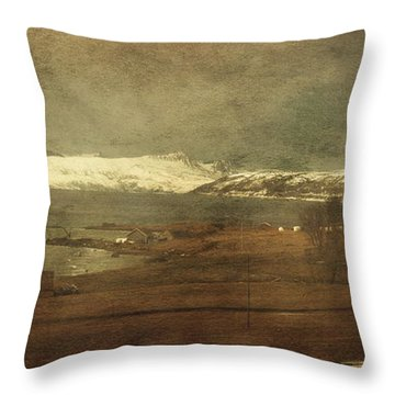 Norwegian Coast Throw Pillow
