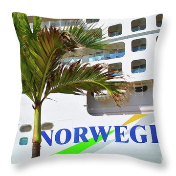 Throw Pillow featuring the photograph Norwegian Cruise Line by Jost Houk