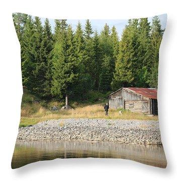 Norwegian Forrest Throw Pillow