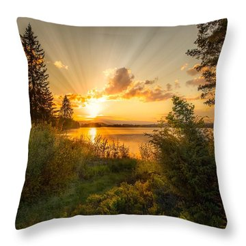 Norwegian Landscape Throw Pillow by Rose-Maries Pictures