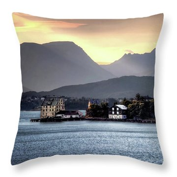 Norwegian Sunrise Throw Pillow
