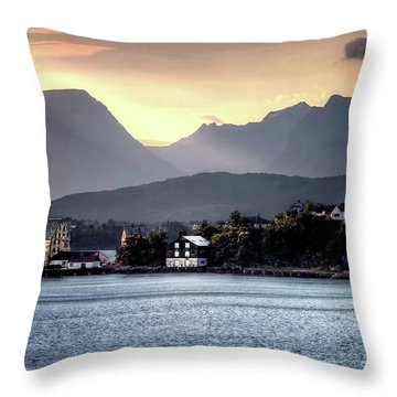 Norwegian Sunrise Throw Pillow by Jim Hill