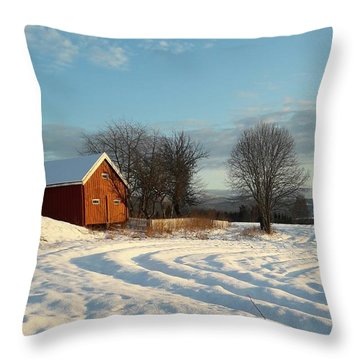 Norwegian Winter  Throw Pillow