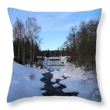 Norwegian Winter Landscape.  Throw Pillow