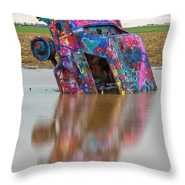Throw Pillow featuring the photograph Nose Dive by Stephen Stookey