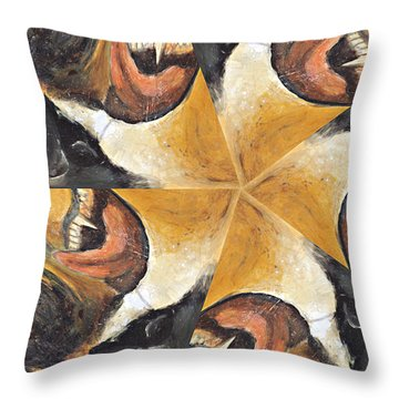 Nose Tongue And Teeth Throw Pillow