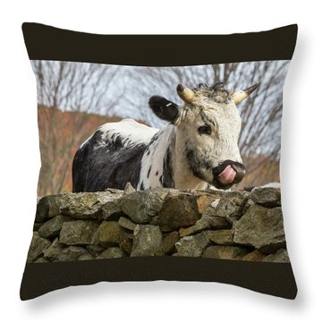 Throw Pillow featuring the photograph Nosey by Bill Wakeley
