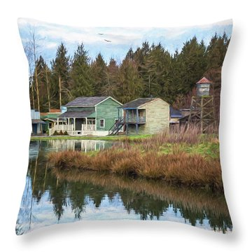 Nostalgia - Hope Valley Art Throw Pillow by Jordan Blackstone