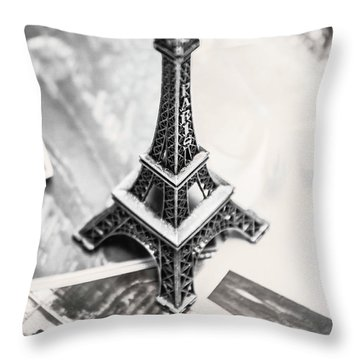 Nostalgia In France Throw Pillow