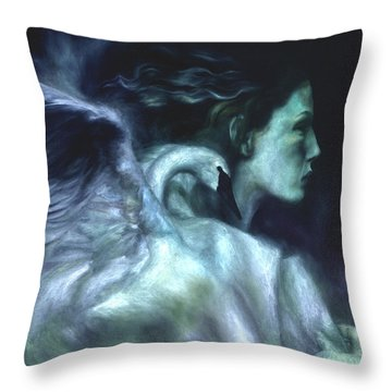 Throw Pillow featuring the painting Nostalgia by Ragen Mendenhall