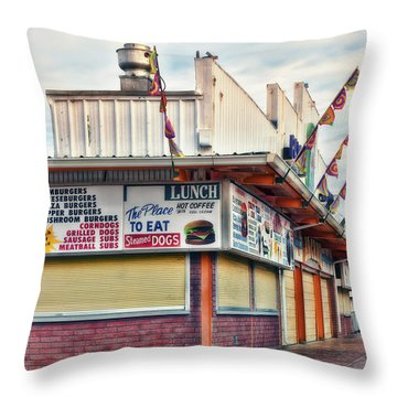 Throw Pillow featuring the photograph Nostalgic Arcade by Richard Bean