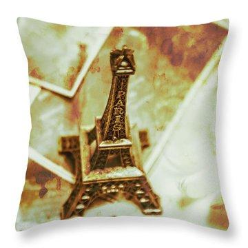 Nostalgic Mementos Of A Paris Trip Throw Pillow