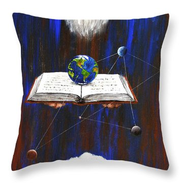 Nostradamus Throw Pillow by Arturas Slapsys