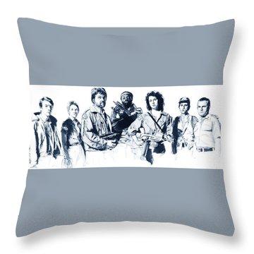 Nostromo Crew Throw Pillow