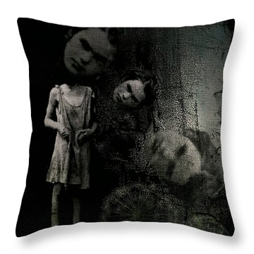 Throw Pillow featuring the digital art Not A Good Day by Delight Worthyn