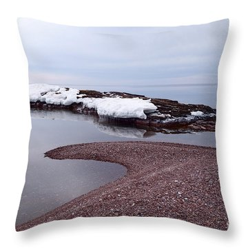 Throw Pillow featuring the photograph Not A Ripple by Sandra Updyke